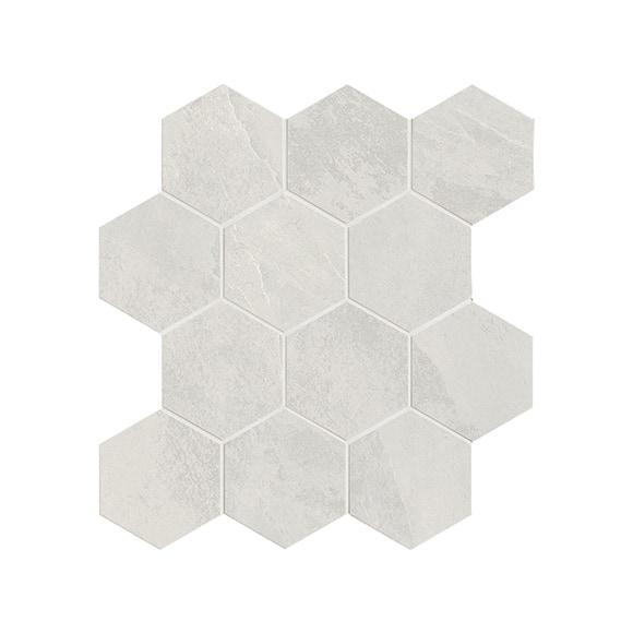 gentle stone white hexagon matt mosaic wall floor tile