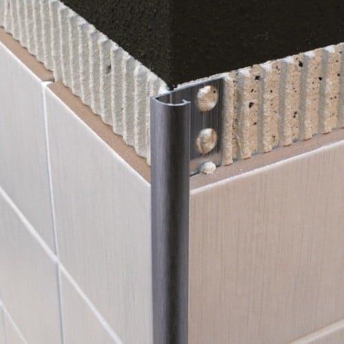 genesis round tile trim metal eaq