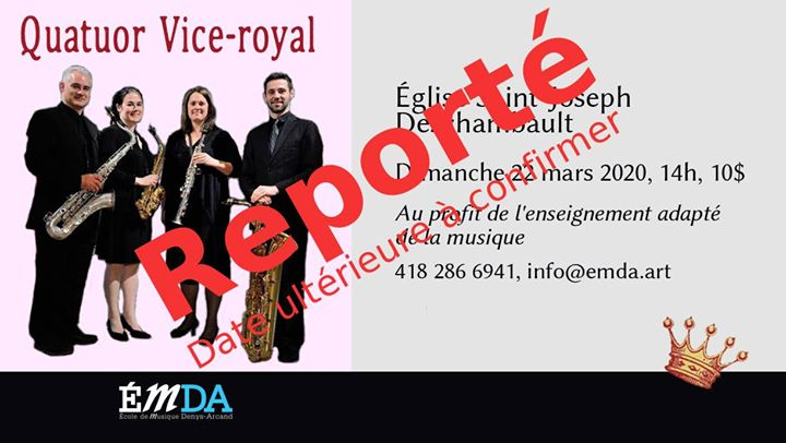 Reporté! Quatuor Vice-Royal : concert de saxophones!