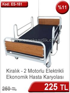 Ekonomik 2 motorlu kiralık hasta yatağı