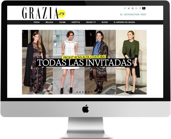 Desarrollo de la web de Grazia