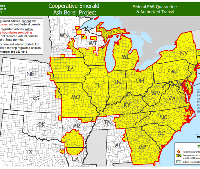 Eab Quarantine Map