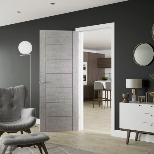 Buy Corsica Light Grey Internal Door Emerald Doors