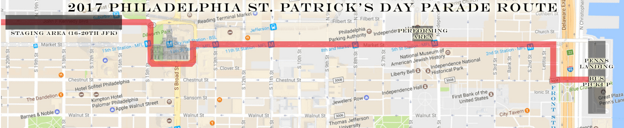 Philadelphia St. Patrick's Day Parade Route 2017