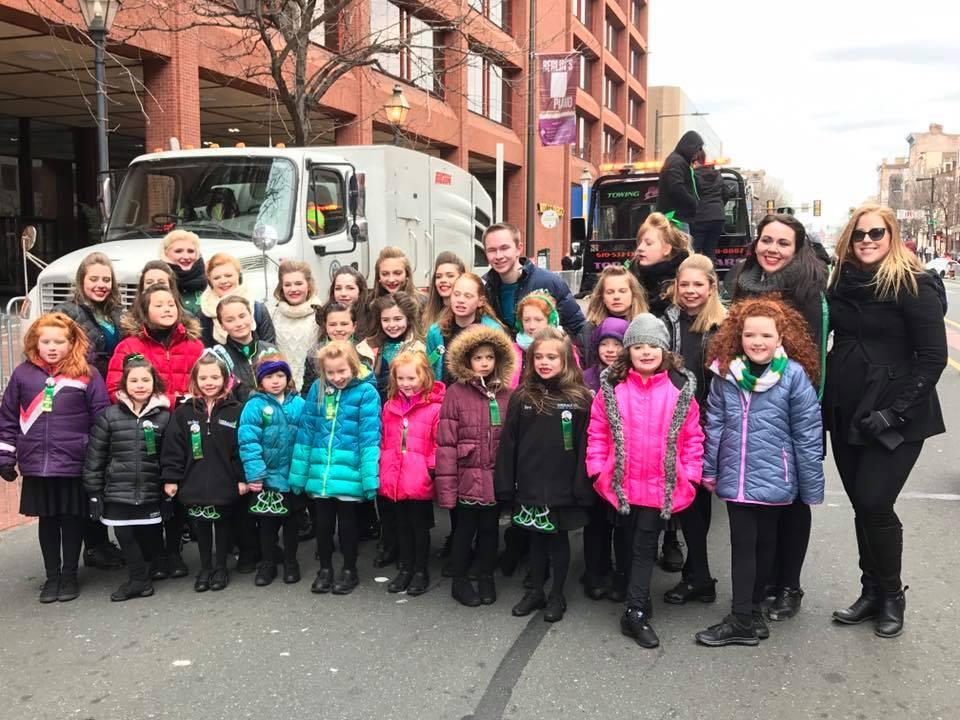 The Emerald Isle Academy 2017 Philadelphia St. Patrick's Day Parade Dancers