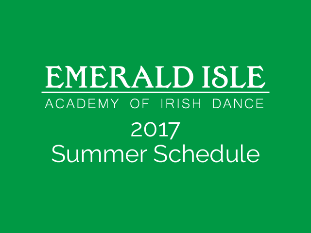 2017 Summer Schedule is Out!
