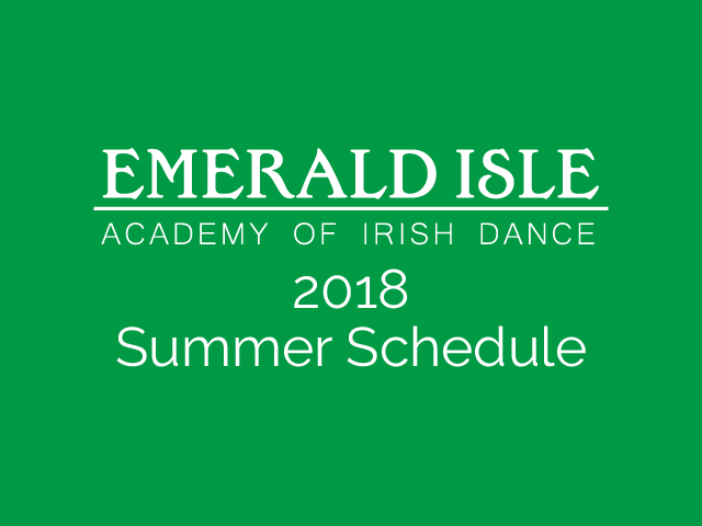 2018 Summer Schedule is Out!