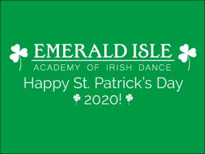 Happy St. Patrick's Day 2020!