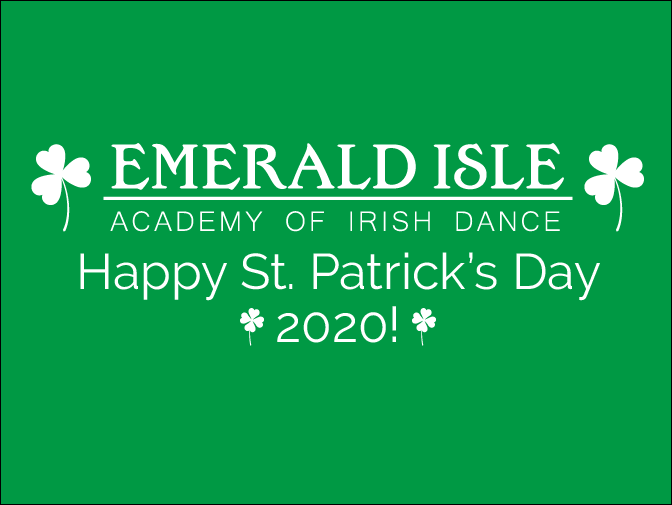 Happy St. Patrick's Day 2020!
