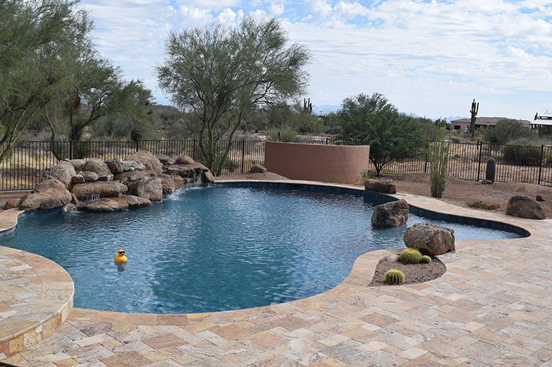 Custom pool built by Emerald Pools and Spas in AZ