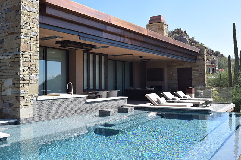 Pool with tile finish