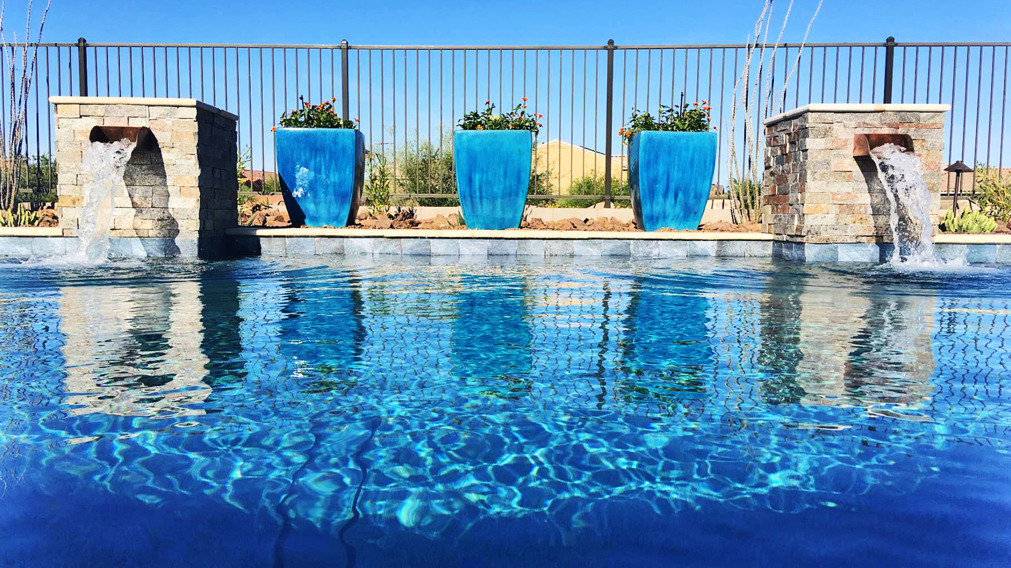 backyard pool water features melhad