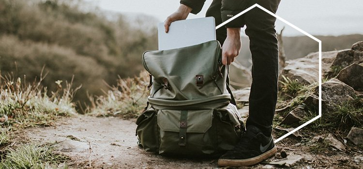 Backpack with laptop