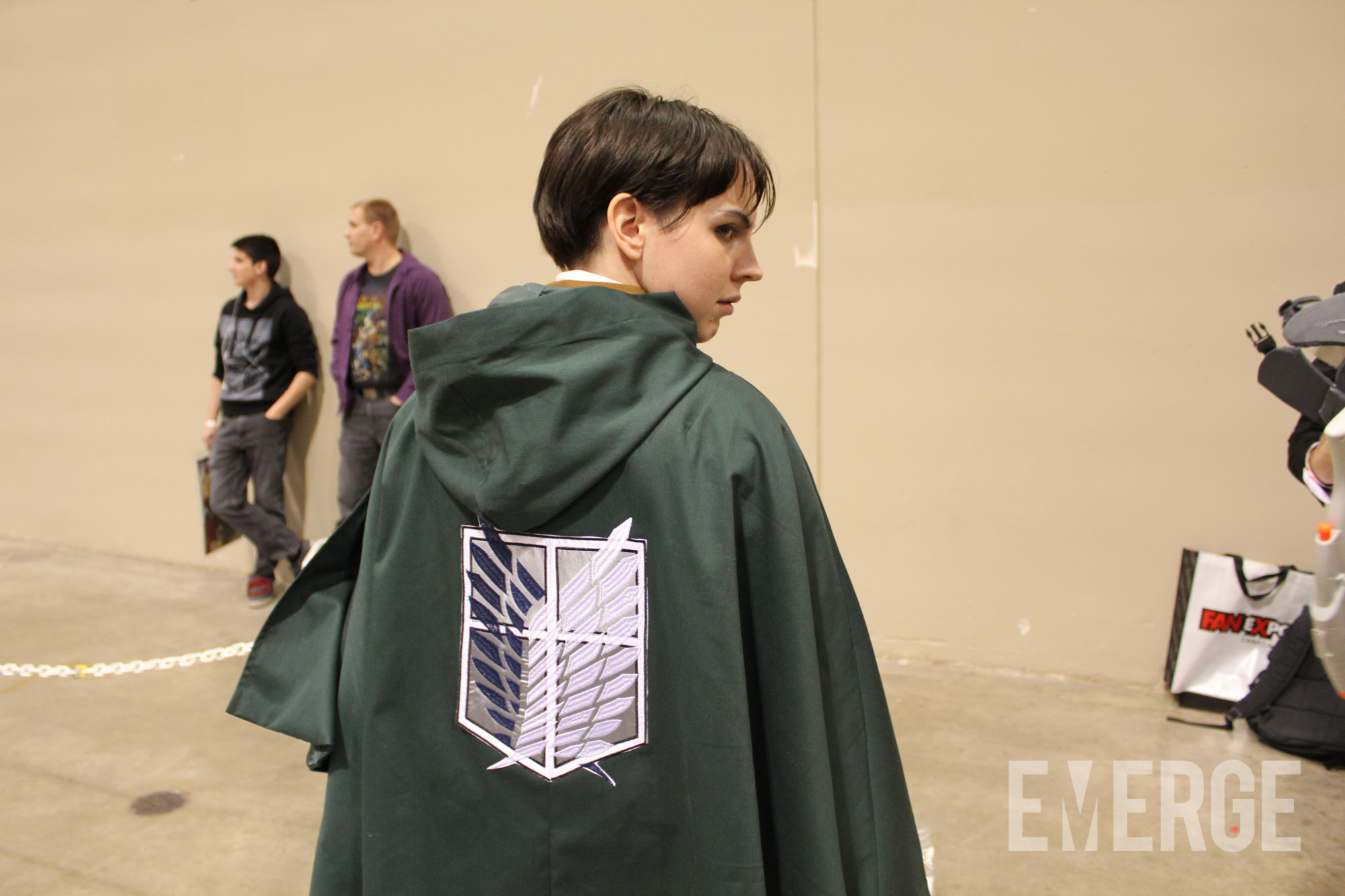 Captain Levi from Attack on Titan was also present on the floor. Thankfully, there were no 12-meter titans around to eat us