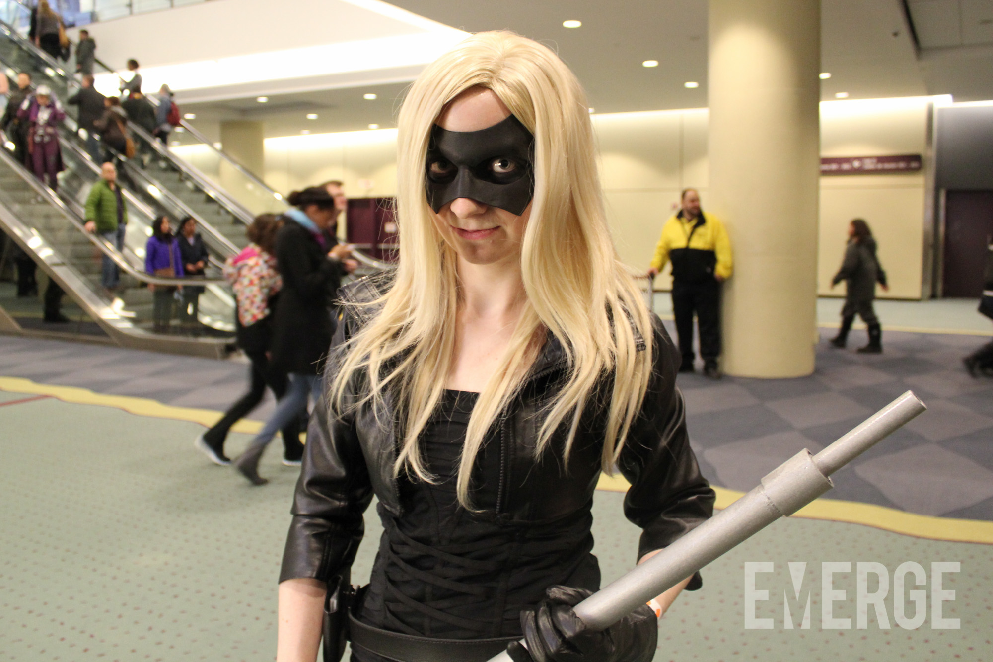 """A Black Canary enthusiast using the updated look from the hit CW show """"Arrow"""""""