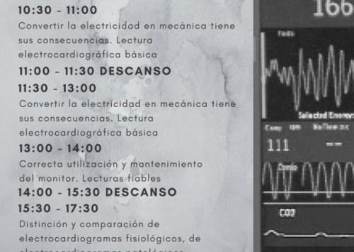 Ya está aquí el cronograma del curso de ECG para TES