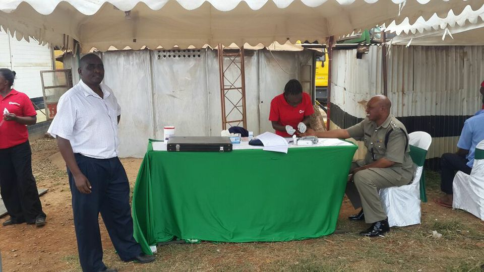 #WDR2016 Day 2 - Our teams and @ntsa_kenya @ Juja Weighbridge for free Diabetes, Hypertension and Visual Acuity check up for drivers with #NTSA