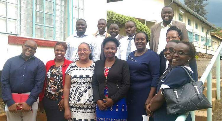 Kirinyaga County Health Team  welcoming Project 47 to the County
