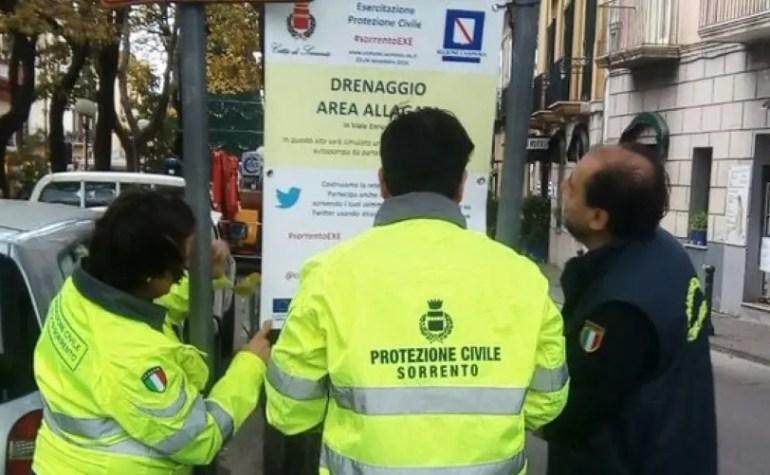 #SorrentoEXE: una social-esercitazione di protezione civile