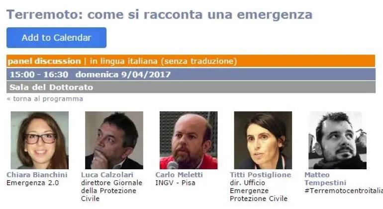 Come si racconta un'emergenza? Ne parliamo al Festival del Giornalismo di Perugia