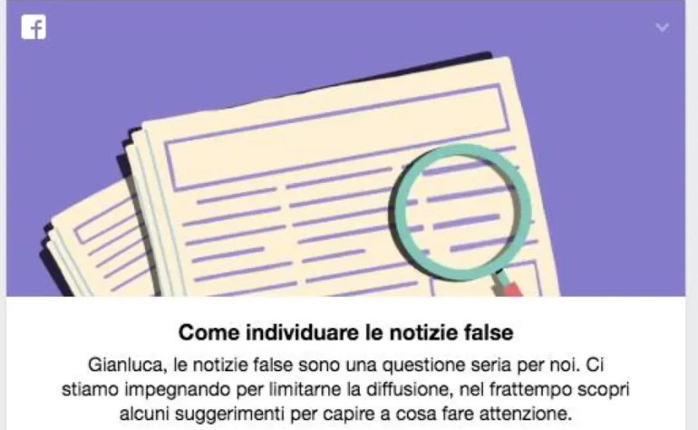 Fake News: il decalogo di Facebook