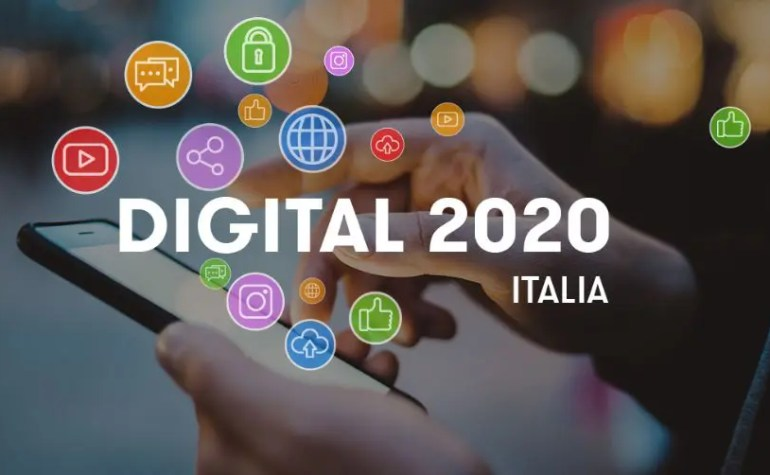 Digital 2020, gli italiani e l'amore per i social