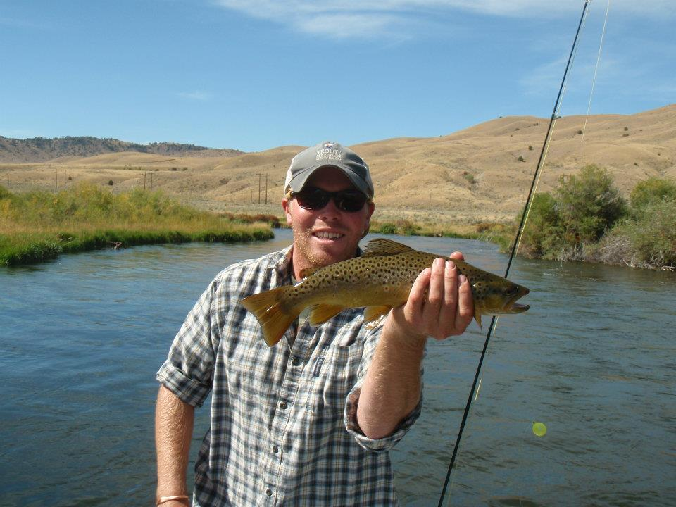Benjy with one of many nice Brown's from the Beaverhead.