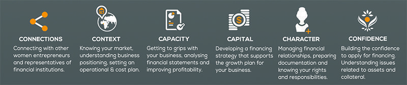 Road to Growth 6Cs infographic