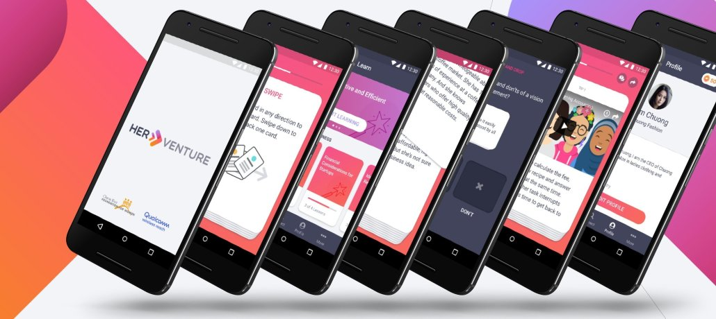 HerVenture Mobile App Screenshots