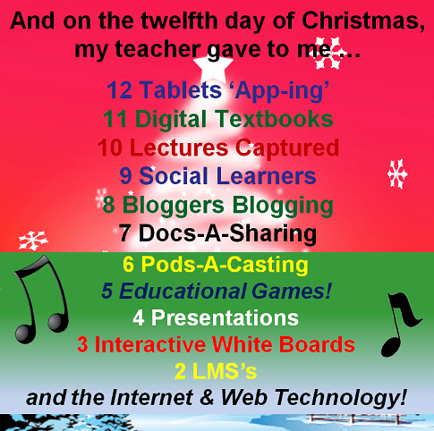 Edtech gifts, to the tune of the Twelve Days of Christmas