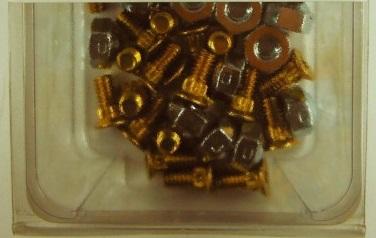 Bolt Nut Kit 82deg x 1/2in CTSK 25pc