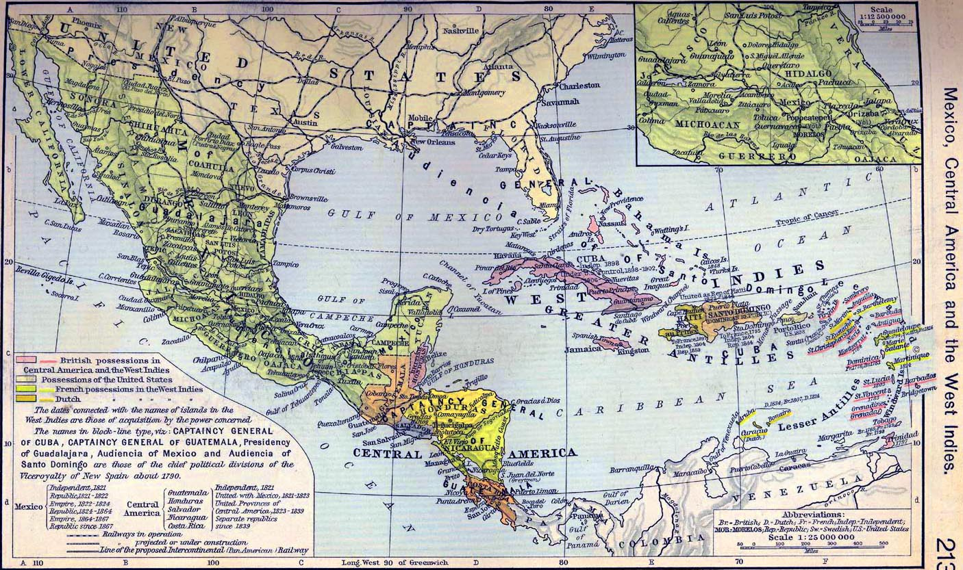 Printable Maps Of Mexico And Central America 9jasports