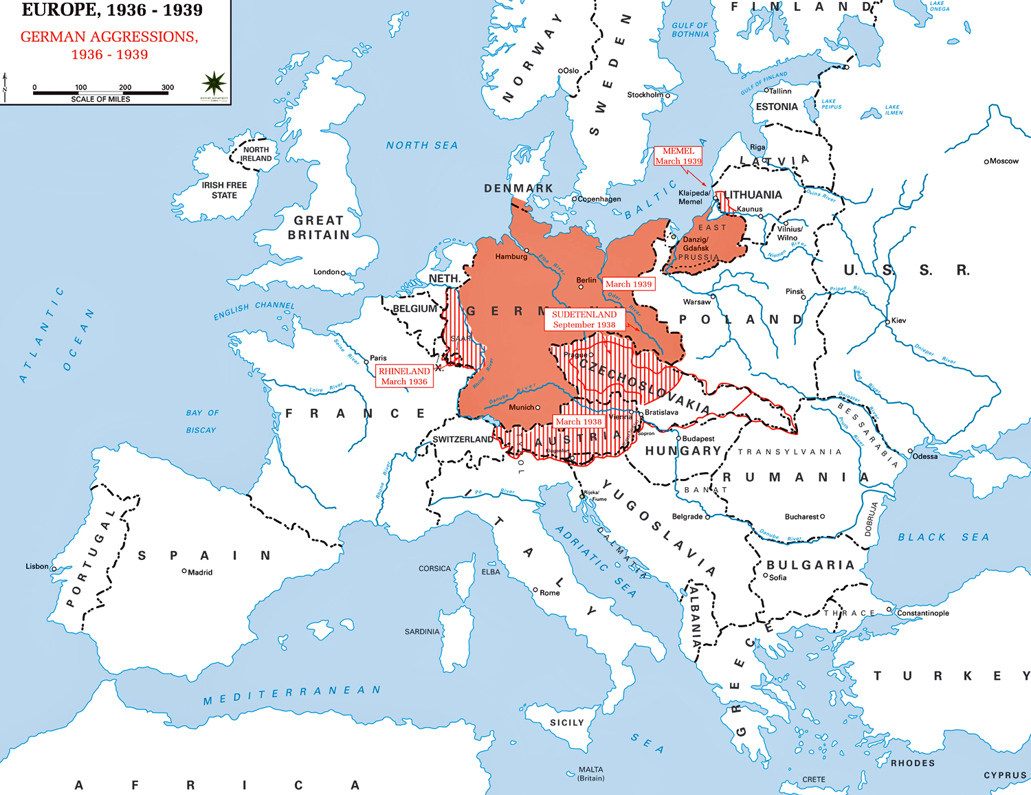 Map Of Europe 1936 1939