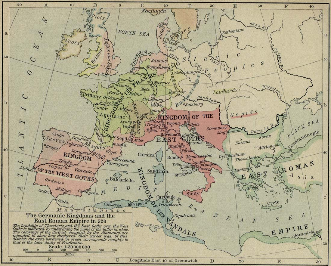 Germanic kingdoms after the fall of West Rome