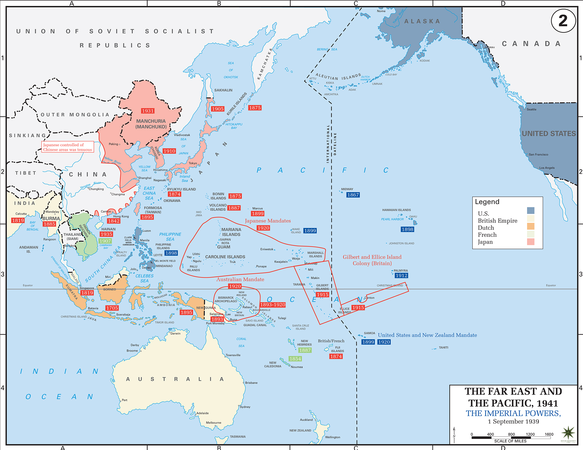 Blank Map Pacific Theater Wwii