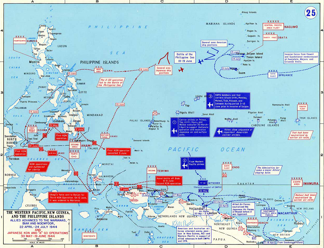 Map Of Wwii Western Pacific April July