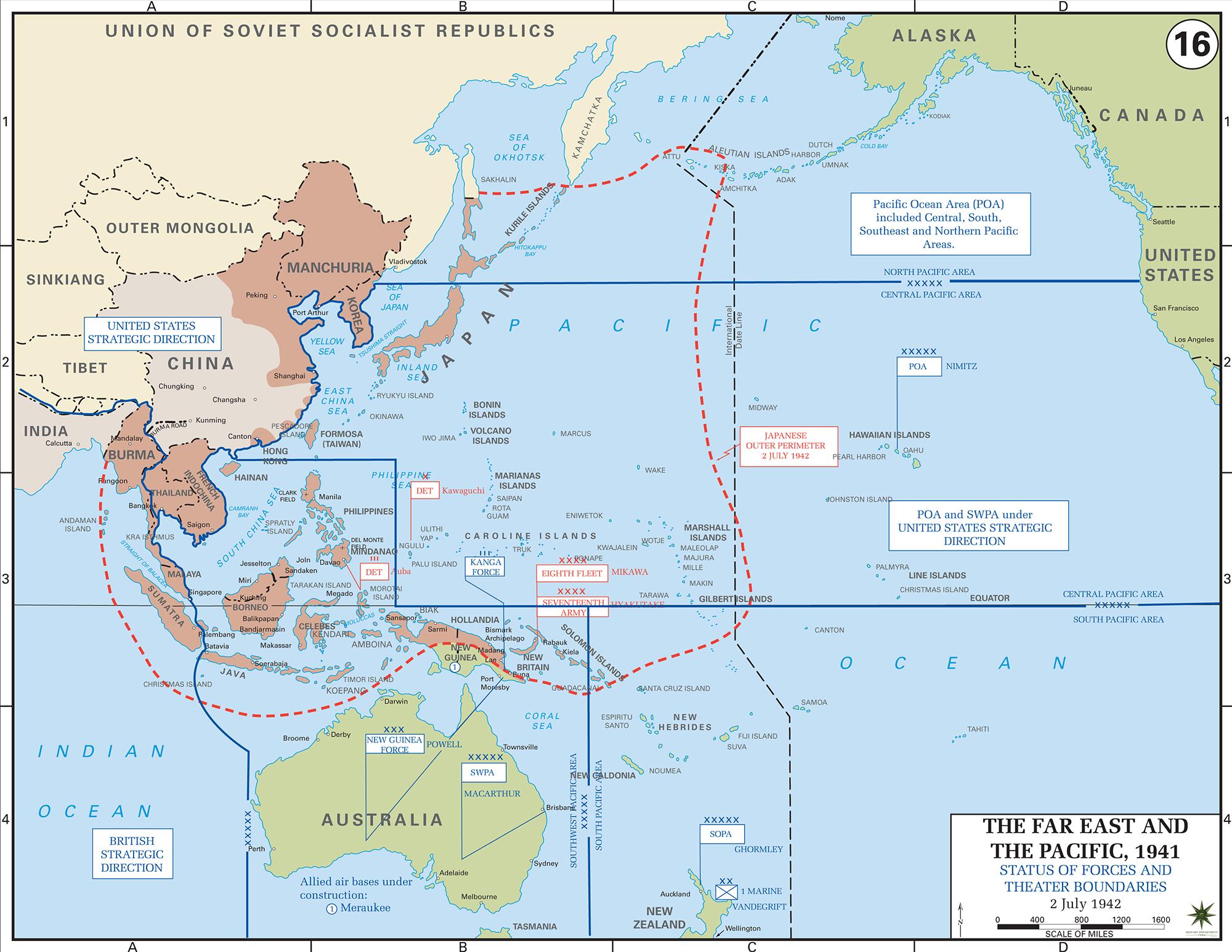 World War Ii Pacific Map Cvln Rp
