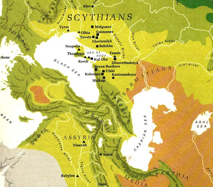Map of Scythian Empire in the 4th Century
