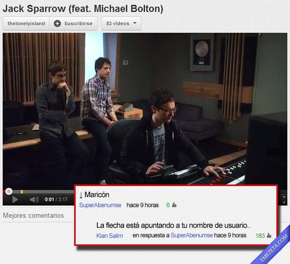 Los mejores comentarios de youtube: Flecha usuario