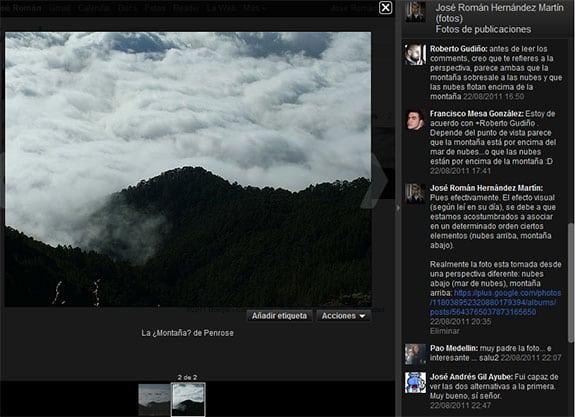 Google Plus (Google+): Picasa. Fotografías o imágenes en Google+. Opciones.