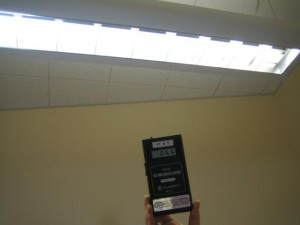 high emf levels from ceiling light