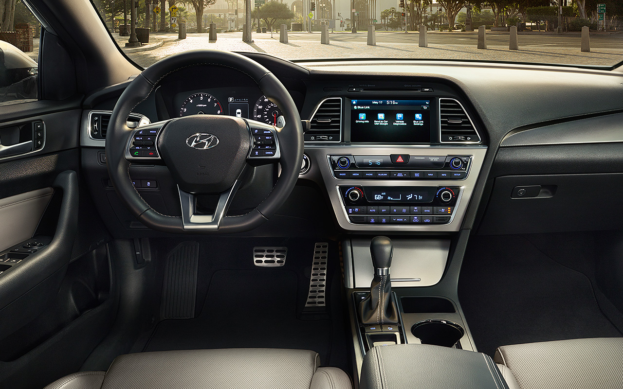 At the launch event for the 2020 hyundai sonata, the company showed off a prototype version of the car's ho. 2017 Hyundai Sonata Interior 6 Emg Universal Auto