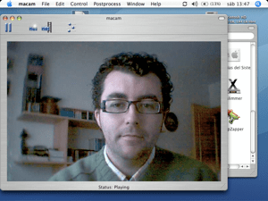 Captura en el iBook de la webcam