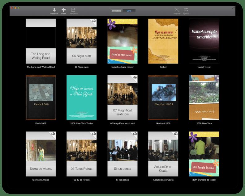 Captura de iMovie Theater en OS X