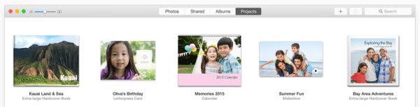 Photos OS X barra