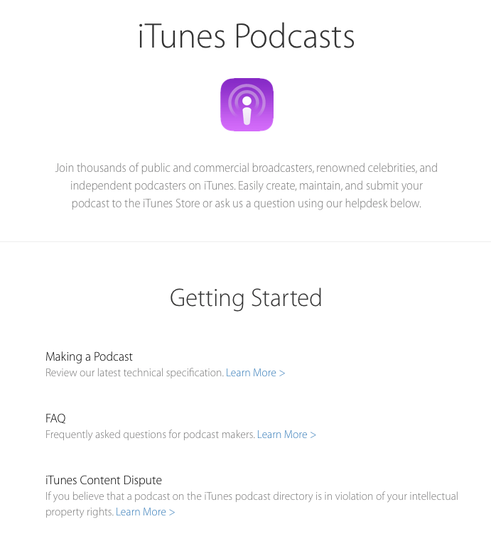 FAQ Podcasts Apple