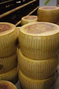 Parmigiano reggiano wheels