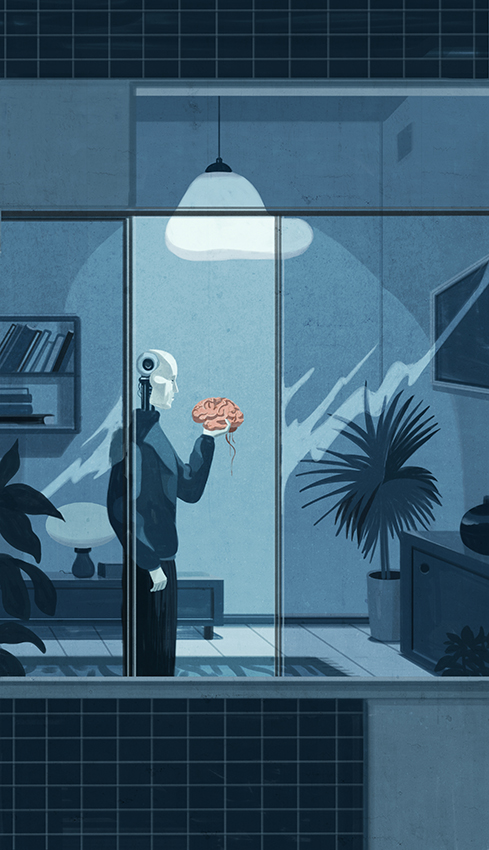 Andrew's Brain Le Monde Emiliano Ponzi
