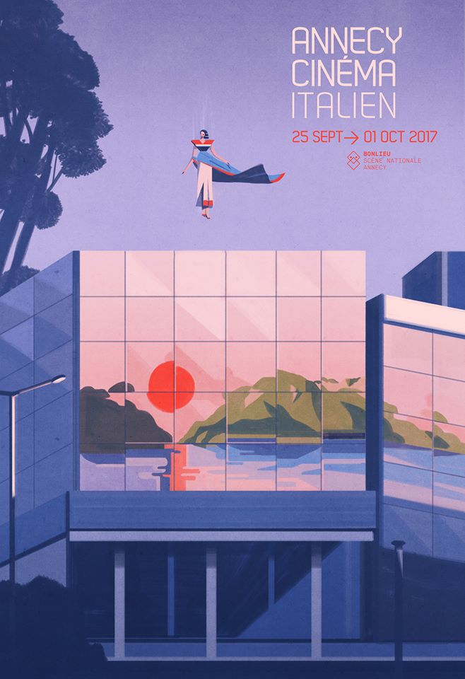 Annecy Italian Film Festival 2017 Poster by Emiliano Ponzi 6