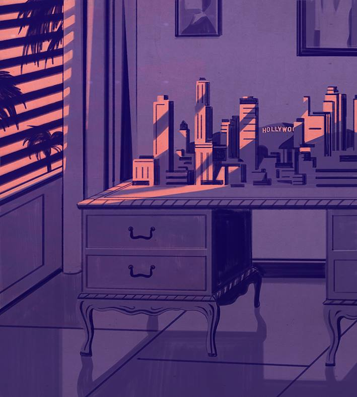 Thomas Mann's desk, AD Architectural Digest Germany | Emiliano Ponzi